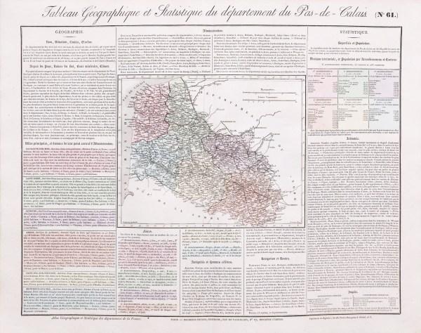 Carte originale du Pas-de-Calais
