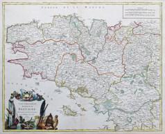Carte géographique ancienne de la Bretagne