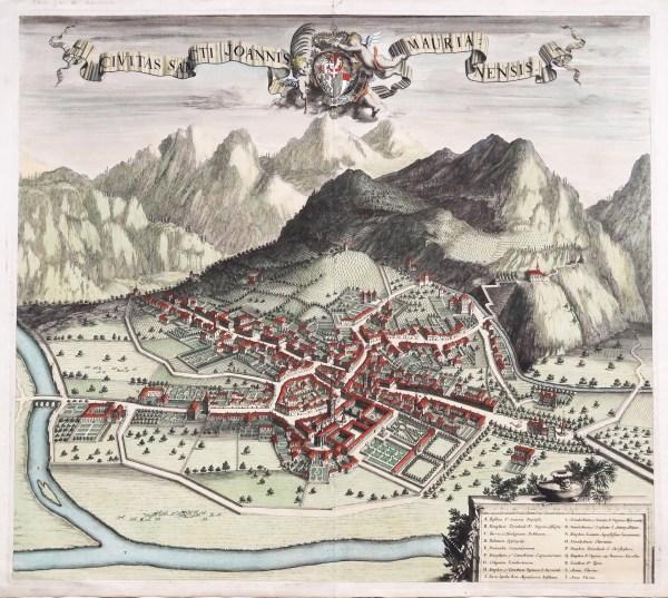 Gravure ancienne de Saint Jean de Maurienne