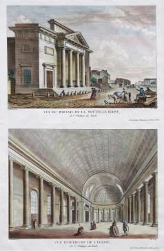Gravure ancienne - Saint Philippe du Roule - Paris