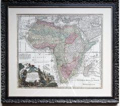 carte géographique ancienne de l'afrique