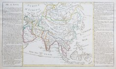 Carte géographique ancienne de l'Asie - Antique map