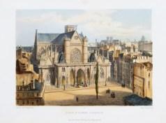 Lithographie ancienne - St Germain L'Auxerrois - Paris