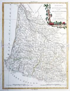 Carte géographique ancienne de la Guyenne & Gascogne - Antique map
