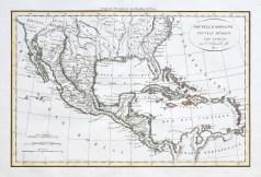 Original antique map - Nouvelle Espagne - Mexique - Antilles