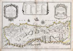 Carte géographique ancienne du Royaume d'Alger