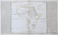 Carte géographique ancienne de l'Afrique - Antique map