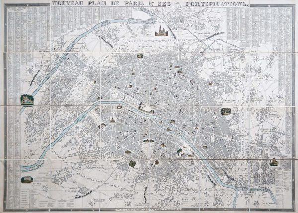 Nouveau plan de Paris et ses Fortifications - 1852