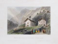 Gravure ancienne de Dormillouse - Freissinières