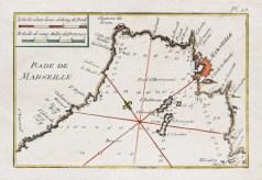 Carte marine de la rade de Marseille