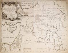 Carte géographique ancienne du Moyen-Orient