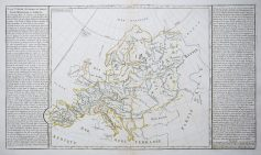 Carte géographique ancienne de l'Europe - Antique map