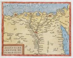 Carte géographique ancienne de l'Egypte