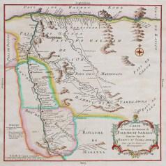 Carte géographique ancienne du Cameroun