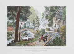 Lithographie ancienne - Vallée de la Grande Chartreuse