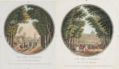 gravure ancienne des tuileries