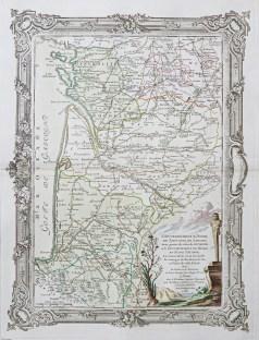 Carte géographique ancienne d'Aunis