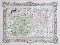 Carte géographique ancienne de l'Auvergne