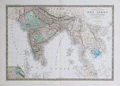 Carte géographique ancienne des Indes