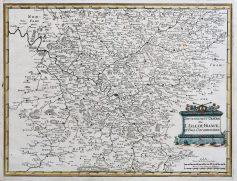 Carte géographique ancienne de l'Ile de France