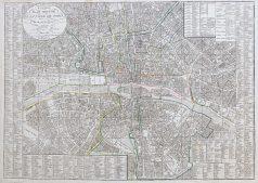 Plan ancien de la ville de Paris