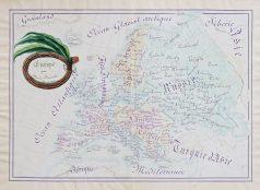 Carte ancienne manuscrite de l'Europe