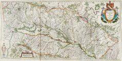 Carte géographique ancienne de l'Alsace