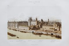 Gravure ancienne du Louvre sous Louis XIII