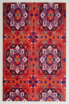 Gravure ancienne du Maroc - Soieries