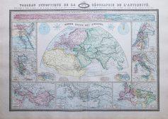 Carte de la géographie de l'Antiquité
