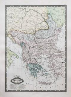Carte géographique ancienne de la Turquie d'Europe