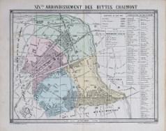 Plan ancien du 19e arrondissement de Paris