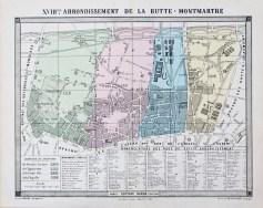 Plan ancien du 18e arrondissement de Paris