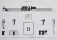 Gravure ancienne de Thèbes