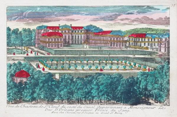 Gravure ancienne du Château de Saint-Cloud