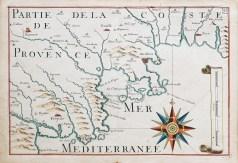Carte Marine ancienne des côtes de Provence