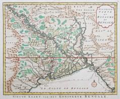Carte géographique ancienne du Bengale
