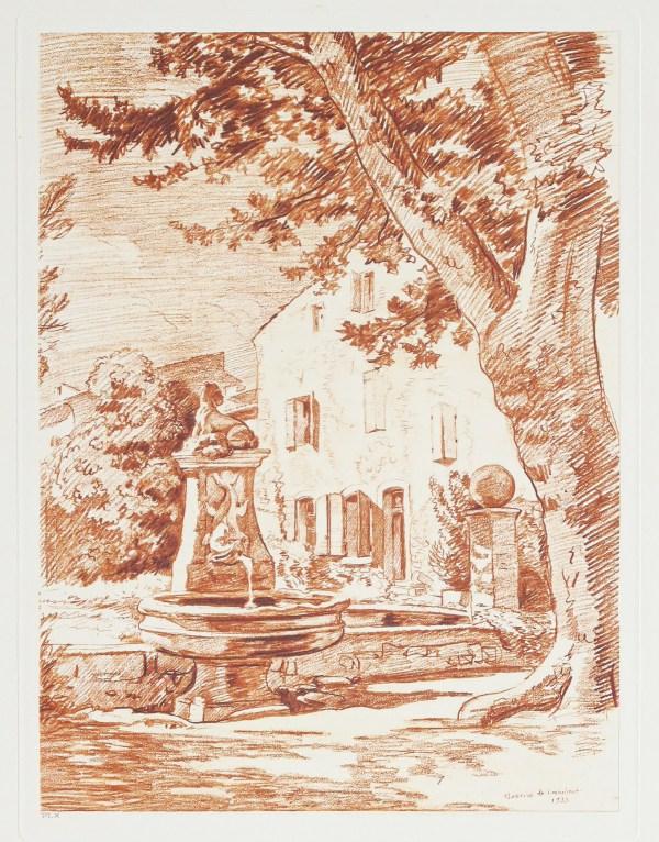 Gravure ancienne de Fontvert