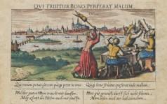 Gravure ancienne d'Orléans