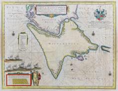 Carte géographique ancienne de la Terre de Feu