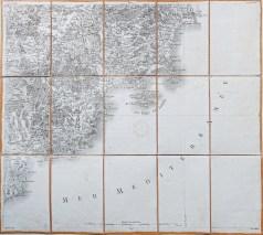 Carte ancienne de Saint Raphael et Antibes - Cassini