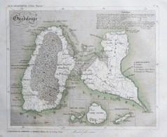 Carte ancienne de la Guadeloupe
