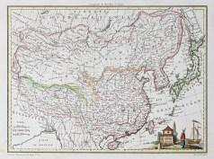 Carte ancienne de l'Empire chinois et japonais