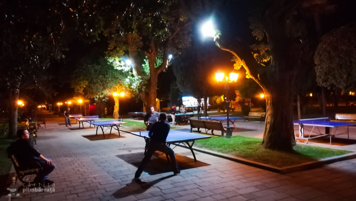 Nocturna de ping-pong tot in parcul central