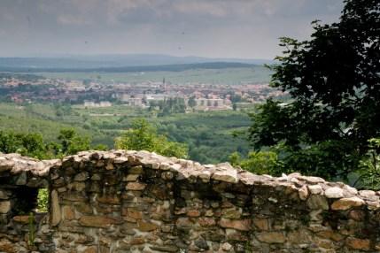 Orasul Cisnadie vazut din cetate - Cetatea Cisnadioara