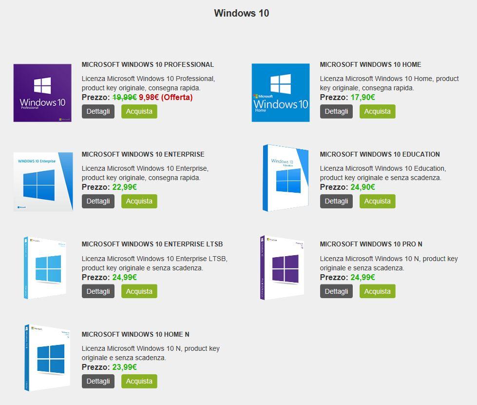 Hai problemi con le tue licenze Microsoft? Nessun problema! Acquistale a prezzi scontatissimi!!!