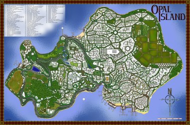 Fantasy Coastal Town Map 4