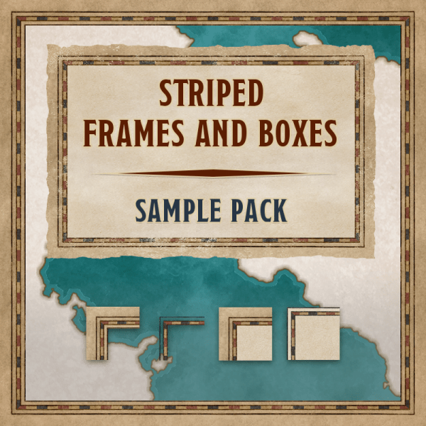 Striped frames & boxes, sample pack