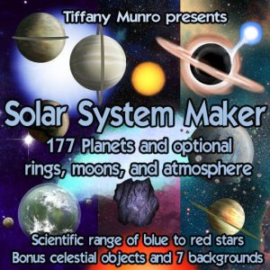 Solar System Maker planets moons atmosphere rings kit