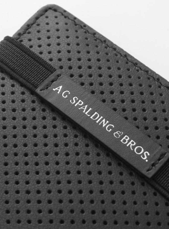 Spalding & Bros - New York - Portafoglio orizzontale nero - Cartoleria Rossi Mantova